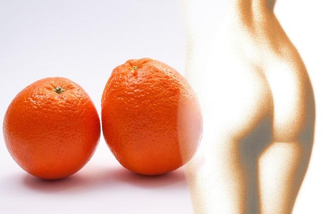 celulitida a pomeranče